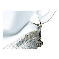 Antique French Napoleon 111 Dormeuses Diamond Earrings