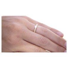 1960's 14K Matt Gold .15CT, F, VS1 Diamond Ring