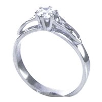 14K WG Split Shank GIA certified Diamond Ring