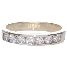 14K YG Diamond Channel Set Band Ring
