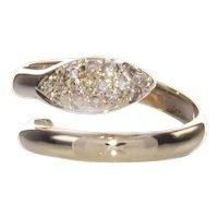18K YG .25 Ct Diamond Good Luck Snake Ring