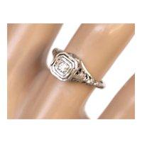18K Belais 1940's Diamond Ring
