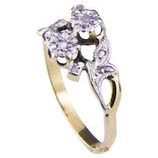 Antique Edwardian 18k - You & Me Ring