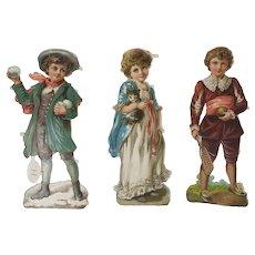 15 large Victorian Scraps of Children - 5 of each