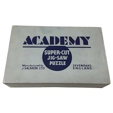 1920's Salmon Academy Super-cut wooden jigsaw puzzle 400 pieces Coaching Scene