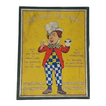 Alice in Wonderland The Mad Tea Party wooden interchangeable Jigsaw Puzzle