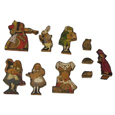 1920's Alley Workshop Oxford Alice in Wonderland wooden figures