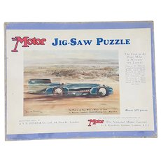 1930's Malcolm Campbell's Blue Bird record car jigsaw puzzle