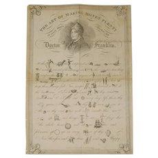 mid C19th Benjamin Franklin Rebus Puzzle print