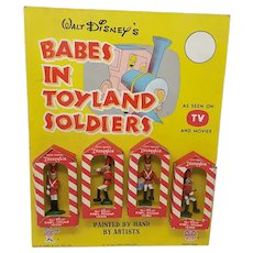 1961 Marx Toys Walt Disney Babes in Toyland Soldiers advertising store show card