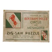 1930's Bertram Mills Circus & Menagerie Wooden Jigsaw Puzzle