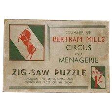 1930's Bertram Mills Circus & Menagerie Wooden Jigsaw Puzzle