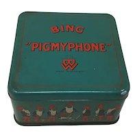 Circa 1930 Bing Pigmyphone German tin-plate toy gramophone Phonograph