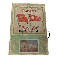 1930's Cunard White Star The Big Three jigsaw puzzle Chad Valley