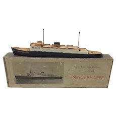 vintage Belgian Royal State Mailboats MS Prince Phillippe waterline model ship