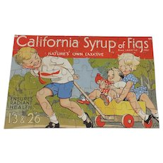 vintage 1930's  California Syrup of Figs British advertising jigsaw puzzle