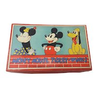 1930's Chad Valley Mickey Mouse Tiddly Winks Game