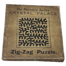 The Phit-em-in JIg-saw Crystal Palace Zig-Zag Puzzle