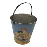1950's child's Seaside sand pail Chad Valley