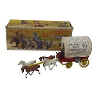1950's Morestone toy Walt Disney Davy Crockett Frontier Wagon  Boxed