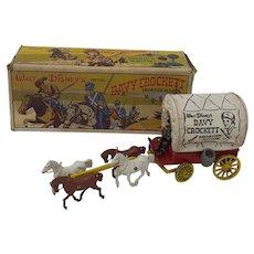 1950's Morestone toy Walt Disney Davy Crockett Frontier Wagon  Boxed