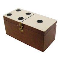 vintage miniature Dominoes double six boxed