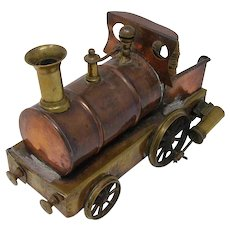 Antique copper and brass live steam dribbler toy train