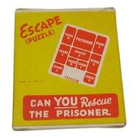 1950's Escape Puzzle plastic sequential movement tile puzzle