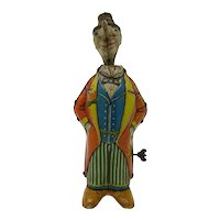 circa 1910 Fischer wind-up tin toy Clown