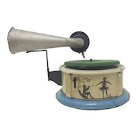 1930's German tin-plate toy gramophone  Phonograph