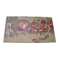 500 piece Jellicoe wooden jigsaw puzzle Cecil Aldin Hunt print Dinner at Hall