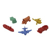 Set of six 1960''s Kellogg's Jig Toy plastic keychain type puzzles