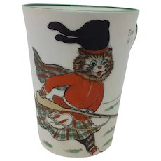 1920's Paragon Louis Wain Cat child's mug First in the Fight