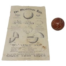 Antique 1909 The Mysterious Ball Puzzle Wooden 3D Ball jigsaw puzzle