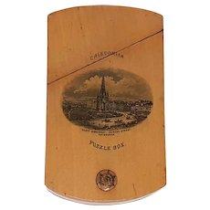 Victorian Mauchline ware Caledonian Puzzle Box