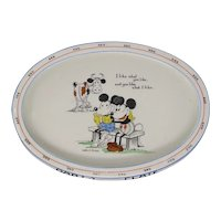 1930's Paragon Mickey Mouse china baby's plate