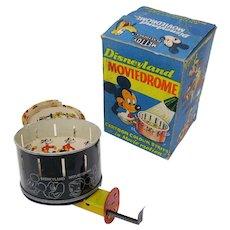 1950's Disney Mettoy Moviedrome tin zoetrope optical toy