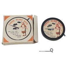 Vintage Morestone Three blind mice optical trick toy