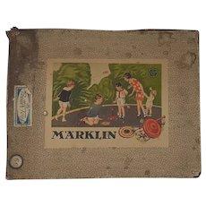 Märklin tin-plate toy boxed spinning top set