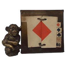 Vintage Monkey Trump Indicator marker card holder