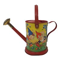 1950's Noddy Enid Blyton Tin plate child's Watering Can Gardening toy Chad Valley