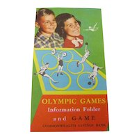 1956 Melbourne Olympic Games Board Game leaflet