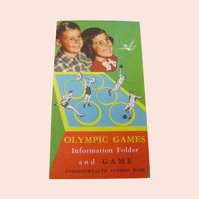 1956 Melbourne Olympic Games Board Game leaflet