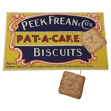 Peek Frean Pat-A-Cake Biscuits advertising card disentanglement puzzle