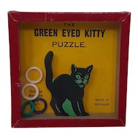 R Journet square Dexterity puzzle The Green Eyed Kitty Puzzle