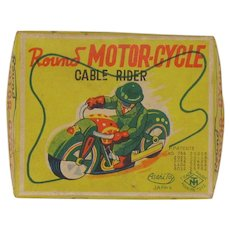 Asahi Japan wind-up tin toy motorcycle