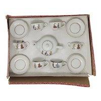 vintage Struwwelpeter Child's porcelain tea set