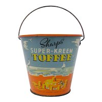 Sharps Toffee candy tin seaside sand pail