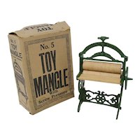 Chamberlin & Hill cast iron Toy Mangle laundry toy