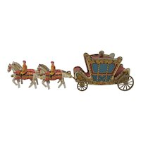 1953 Coronation Coach tin toy